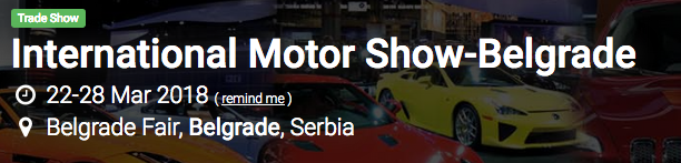 International Motor Show-Belgrade 2018
