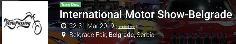 Belgrado Motor Show 2019