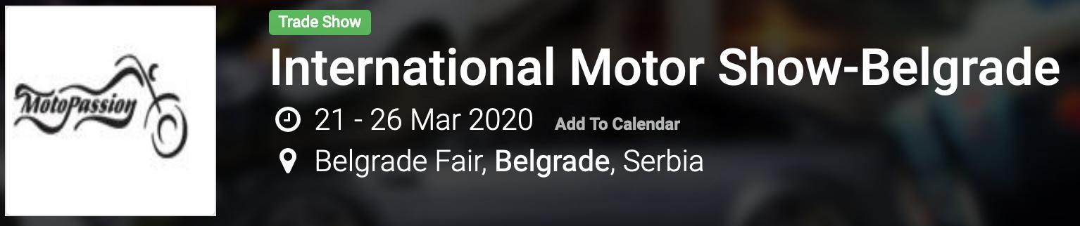 Motor Show-Belgrade 2020